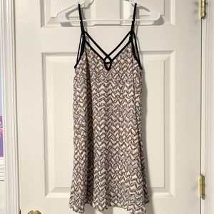 Strappy printed cami dress